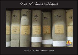 04-03- Arrêtés et décisions du gouvernement
