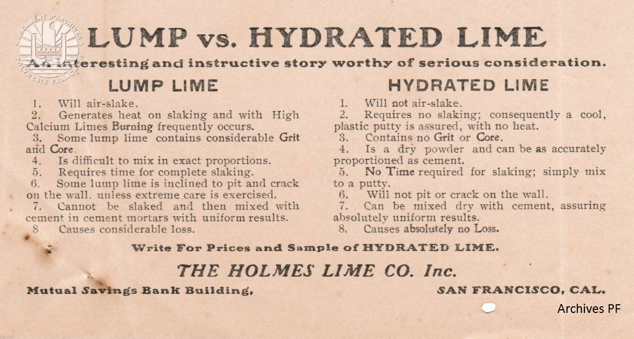 The Holmes Lime Co 1
