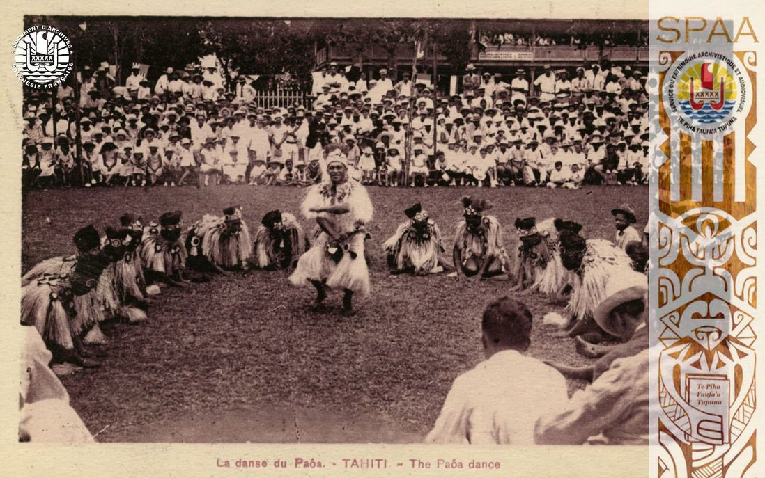 Ha'amana'ora'a, Souvenirs 26: « La danse du Paôa. – TAHITI – The Paôa dance  »