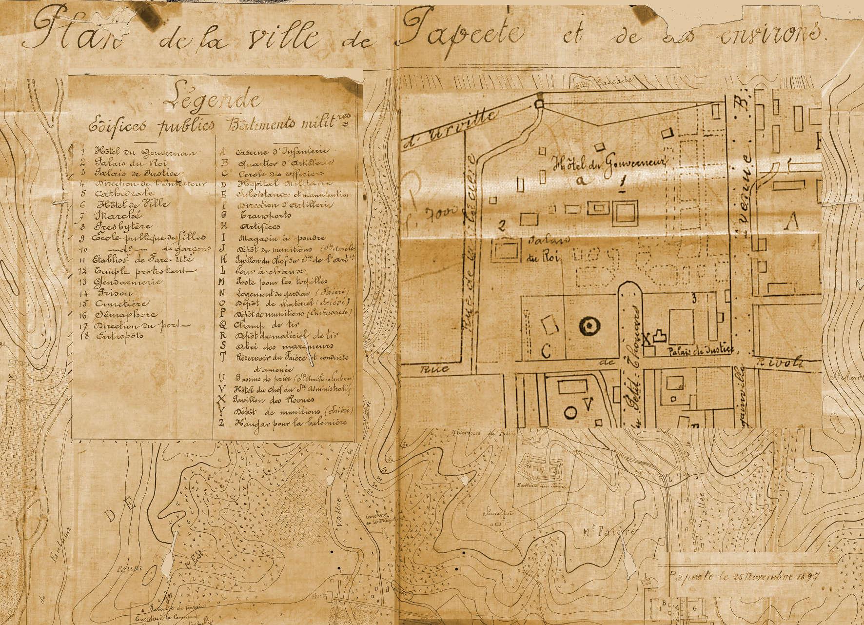 Plan de Papeete 1897