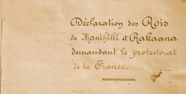 Tentative d'établissement du  protectorat de la France sur les îles Manihiki et Rakaana en avril 1889