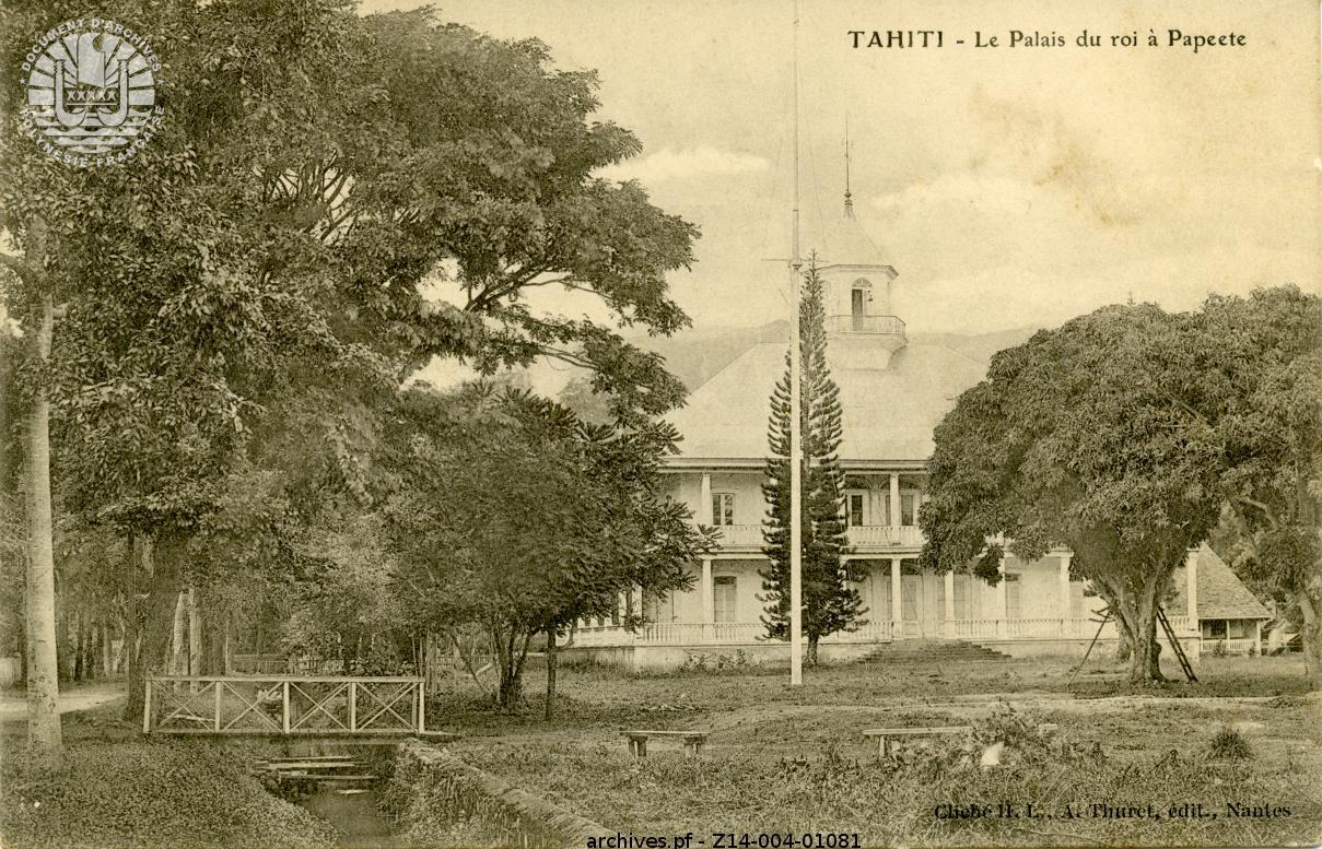 Remerciements du roi pour la remise du Palais  (21 Juin 1883)