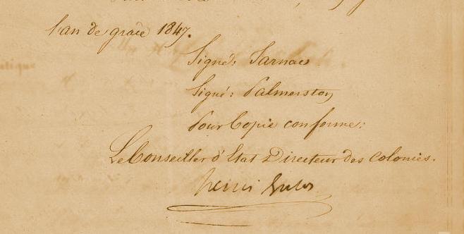 Déclaration Jarnac – Palmerston 16 juin 1847