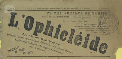 L'ophicléide – Te vea arearea no tahiti Juin 1886