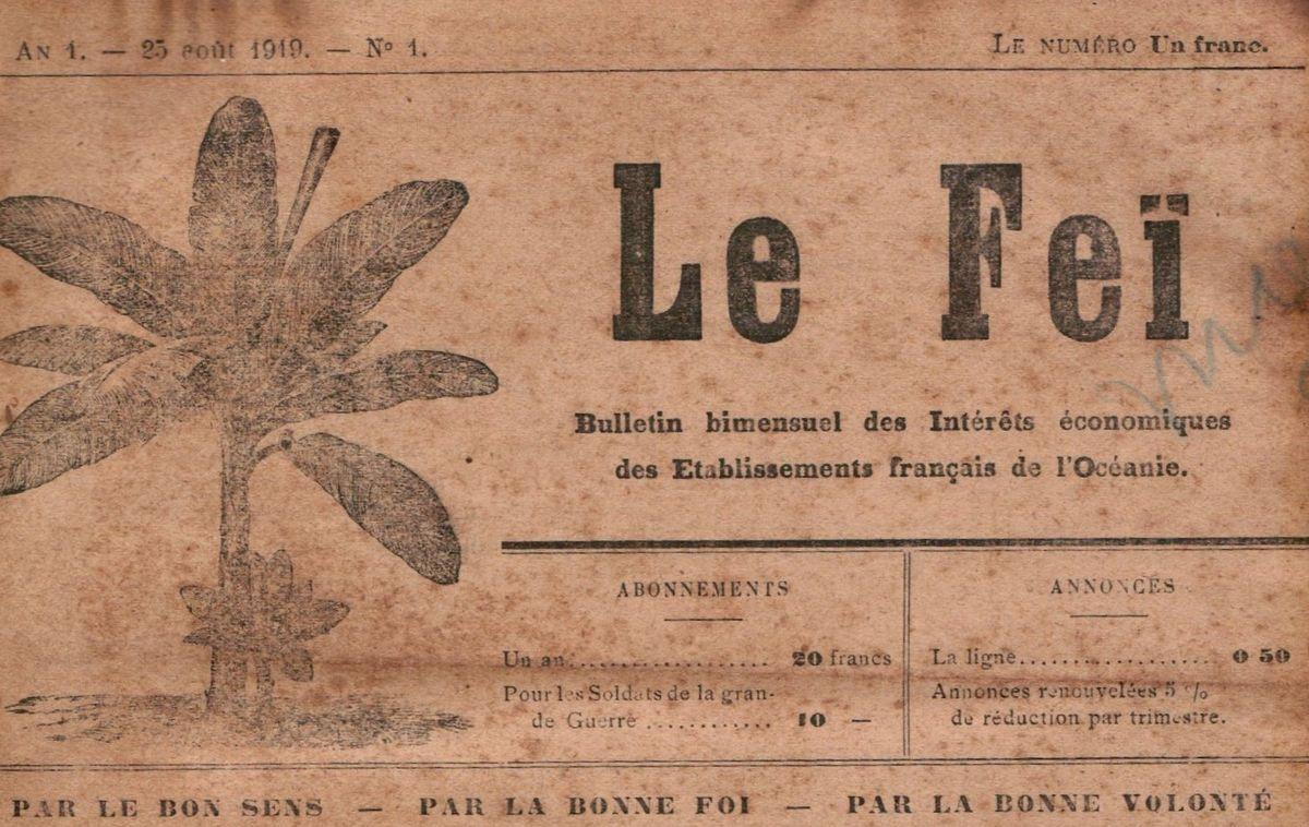 LE FEÏ : Bulletin bimensuel des intérêts économiques des Établissements français de l'Océanie
