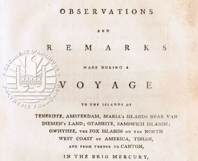 Observations and Remarks made during a Voyage to the Islands of Teneriffe (…) in the Brig Mercury commanded by John Henry Cox, Esq. Par Lieut. George MORTIMER Dublin, 1791