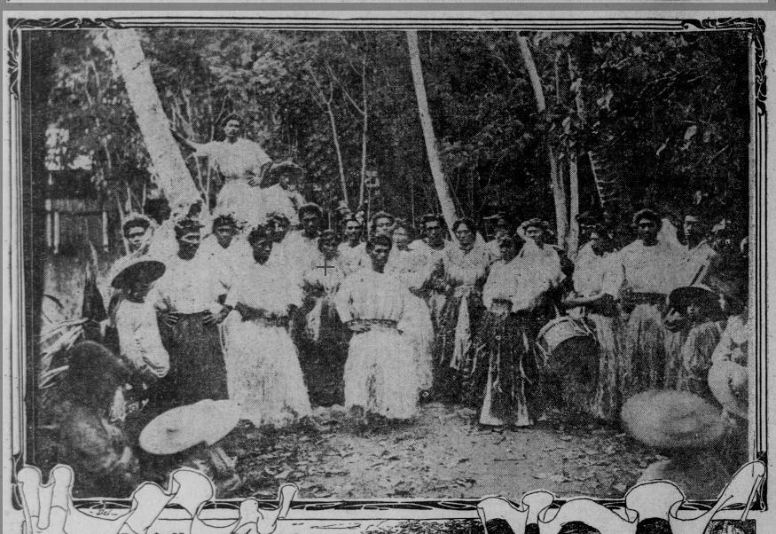 Recrutement de chanteurs et danseurs tahitiens pour une tournée  aux États-Unis d'Amérique 1906