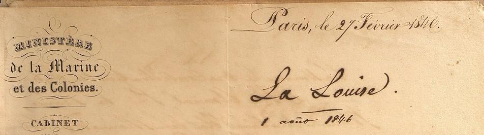 À propos de l'Arche d'Alliance – Ministre à Gouverneur 1846
