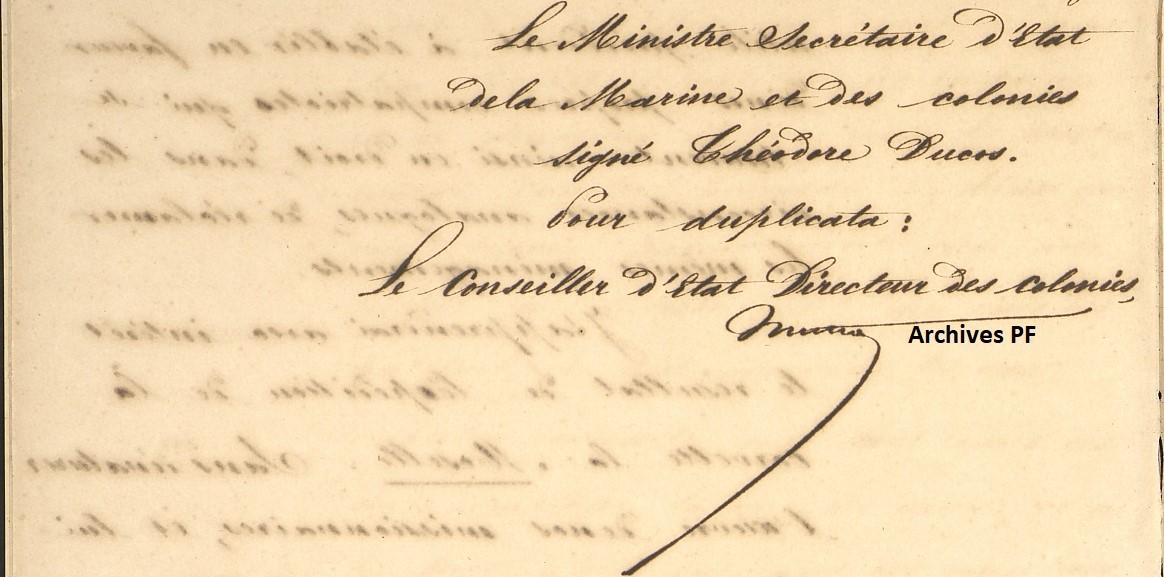 Intervention aux Tonga. Lettre du 9 mars 1853.
